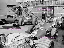 AMON & Ickx Ferrari 312 International Trophy Silverstone 1968 photographie