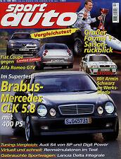 sport auto 12/98 1998 Fiat Coupé 2.0 20V Alfa Romeo GTV 3.0 V6 24V SMR-BMW Zonta
