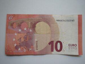 Sammler  10 Euro mit  Geburtsdatum  25 07 93 !!! Geburtstagsgeldschein
