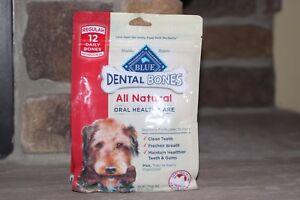 BLUE BUFFALO 12 REGULAR DENTAL BONES (DOG 25/50 LBS)ALL NATURAL ORAL HEALTH CARE