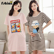 New Nursing Dress Stripe Breastfeeding Pregnancy Women  Maternity Dress Clothing