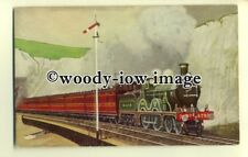 ry1066 - S.E.C.R. 4-4-0 No.470 passing Dover Cliff with a Down Train - postcard
