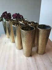 Gold Vases. Lot of 7.