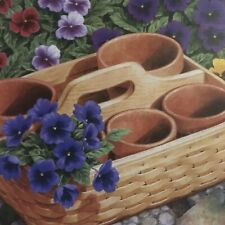 Set Of Two Longaberger Coasters With Outdoor Gardening Basket