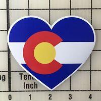 """Colorado Flag Heart 4"""" Wide Multi-Color Vinyl Decal Sticker - BOGO"""
