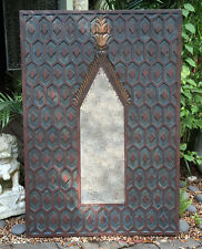 """Sumatran Handcrafted Wood Wall Mirror 30"""" x 45"""" Indonesia 2005 UNIQUE Cathedral"""