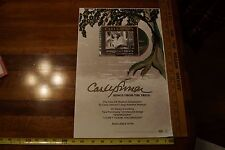 Carly Simon - Song for the Trees - Original Promo Poster 11x17