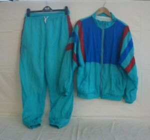 Vintage 80's/90's Full Shell Suit Jacket and Bottoms Size L