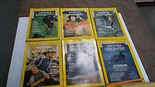 1970 NATIONAL GEOGRAPHIC MAGAZINES  6 ISSUES ALL DIFFERENT not complete (NG16)