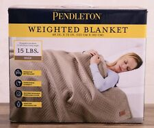 NEW Pendleton Weighted Blanket 48x72 Therapeutic 400TC Cotton Fabric 15 lb Beige