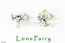Solid 925 Sterling Silver Dragonfly Stud Earrings Quality Animals & Insects