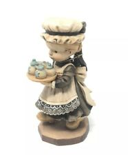 """Vtg Anri Sarah Kay (Afternoon Tea) 6"""" Ltd 1128/4000 Carved Wood Figurine"""