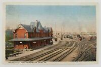 Postcard Lehigh Valley Passenger Train Station Depot Sayre Pennsylvania 1916