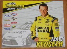 "2015 Matt Kenseth Dollar General ""1st issued"" Toyota Camry NASCAR SC postcard"