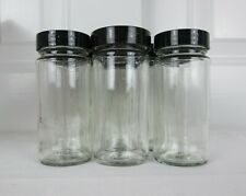 Lot of 10 Clean Empty 3oz Clear Glass Spice Jars Bottles w/Lids No Glue or Label