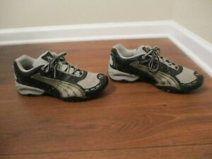 Used Worn Size 11 Puma Burmei 2 Shoes Anthracite & Gray