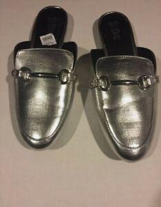 Brash Summer slippers half shoe flat bottom sandals slippers New w box Silver 11