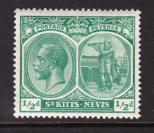 ST KITTS 1920-22 ½d BLUE-GREEN SG 24 MNH.