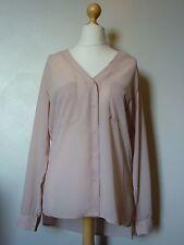Laura Scott Long Sleeve V Neck Pocketed Blouse Top Size 14 BNWT Nude Uk Freepost