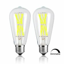 LED Edison Bulb 15W Dimmable 4000K 1300LM 120W Equivalent E26