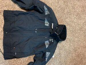 spyder mens black jacket coat large