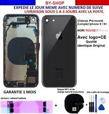 Châssis arrière iPhone 8 / 8+ Plus Pré monté complet/Coque NOIR ROUGE OR