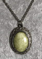 Pendant & 27.5� Chain by Jacobite Large Connemara Marble Silver Tone Metal