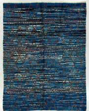 Contemporary Blue Moroccan Rug. CUSTOM OPTIONS Available