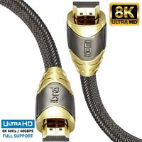 8K IBRA v2.1 Luxury HDMI Cable High-Speed 48Gbps Lead | Supports 8K@60HZ 1M-2M
