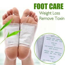 10pc Bamboo Detox Foot Patch Weight Loss Mask Skin Health Care Relieve Toxin Ski