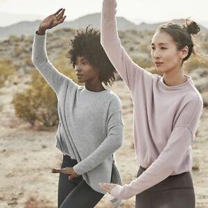 Athleta Pink Cashmere Chamonix Sweater Small