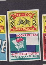 Ancienne étiquette allumettes Belgique BN14644 Cuisine Electrique