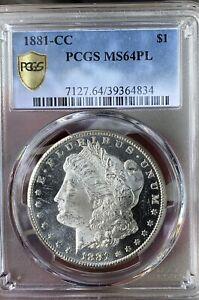1881 CC Morgan Dollar MS64PL NEAR DMPL DEEP MIRRORS FOR PL VERY NICE UPGRADABLE