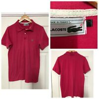Lacoste Pink T Shirt Mens Size M Polo Neck Short Sleeve (C296)