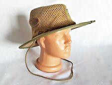 VINTAGE AUTHENTIC ROGUE CANVAS MESH MEN'S COWBOY BUSH HAT:US 7 1/8;EU 57