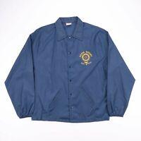 Vintage BIRDIE MADE IN USA Blue Lightweight Nylon Worker Jacket Size Men's Large