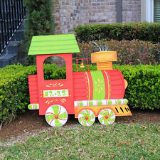 Big Christmas Train Outdoor Holiday Decoration