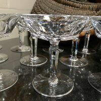 """Waterford Sheila 4 3/4"""" Champagne / Tall Sherbet Gothic Mark Ireland - 13 Avail"""
