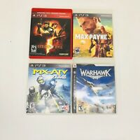 PlayStation 3 PS3 Games Lot Max Payne 3 Resident Evil 5  Warhawk MX Vs ATV Alive