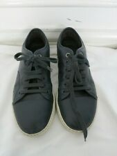 LANVIN navy leather low top sneaker size 7