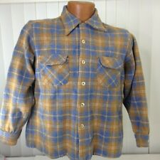 Pendleton Mens Boys Youth Multicolored 100% Virgin Wool Plaid Board Shirt XL