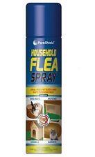 2 x FLEA SPRAY 200 ML KILL FLEA & LARVAE FOR CAT DOG PETS BED CARPET HOME