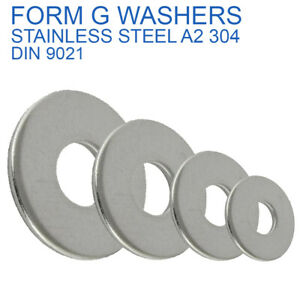 M2 M2.5 M3 M4 M5 M6 M8 M10 M12 FORM G WIDE THICK FLAT WASHERS STAINLESS STEEL