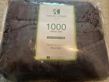 True Luxury 1000 Thread-Count 100% Egyptian Cotton Sheet Set King Dark Grey