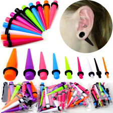 18/Set Acrylic Ear Plug Taper Kit Gauges Expander Stretcher Stretching Piercing