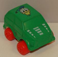 "2.75"" Donald Duck Green Car PVC Plastic Disney by Viking Toys Sweeden"