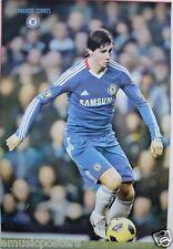 "FERNANDO TORRES ""CONTOLLING FOOTBALL"" POSTER - CHELSEA, SPAIN NATIONAL, SOCCER"