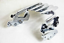 Detachable Stealth Luggage Rack & 4 four point for Harley Touring MODELS 09-13