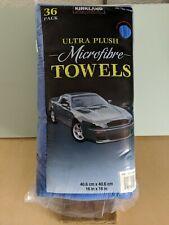 Kirkland Signature Ultra High Pile Premium Microfiber Towels 36-Pack Blue