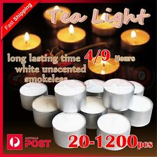 Tealight Candle Tea Light Candles Tealights Home Decor Party Wedding 4/9 Hours